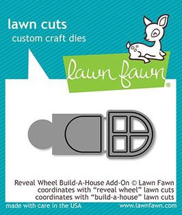 "Stanzschablone ""Reveal Wheel Build-A-House Add-On"" - Lawn Fawn"