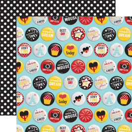 Wish Upon A Star, Best Day Buttons - Echo Park Paper