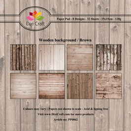 "Paper Pack ""Wooden Background - Brown"" - Dixi Craft"