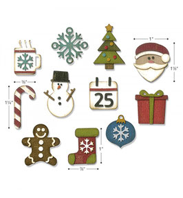 Thinlits Die Set, Mini Christmas Things - Sizzix (Tim Holtz)