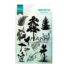 "Clearstamps ""Silhouette Fairy Forest"" - Marianne Design"