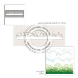 Grass Lawn, Schablone - Polkadoodles