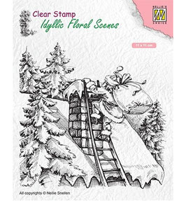 """Clearstamps """"Santa Claus At Work"""" - Nellies Choice"""