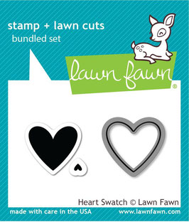 Heart Swatch Stamp & Die - Lawn Fawn