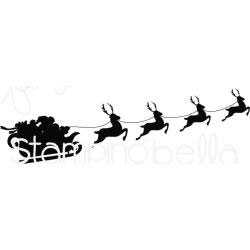 """Clingstamps """"Santa's Sleigh Silhouette"""" - Stamping Bella"""