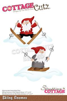 "Stanzschablone ""Skiing Gnomes"" - Cottage Cutz"