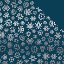 Let It Snow - Navy Snowflake