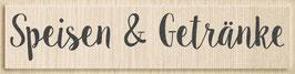 """Holzstempel """"Speisen und Getränke"""""""