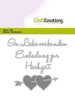 """Stanzschablone """"In Liebe verbunden"""" - CraftEmotions"""