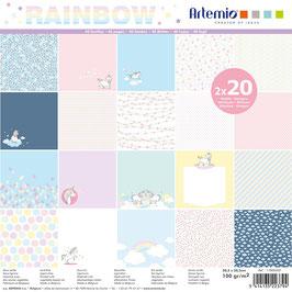 "Papierset ""Rainbow"" - Artemio"