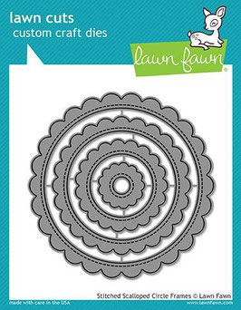 Stitched Scalloped Circle Frames Dies - Lawn Fawn