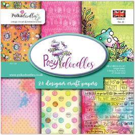 Posy Doodles Paperpad 6x6 - Polkadoodles