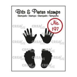"""Clearstamp Bits&Pieces """"Babyhände und -füße"""" Crealies"""