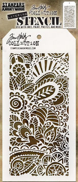 "Layered Stencil ""Doodle Art #1"" - Tim Holtz"