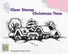 Clearstamp Snowy Village - Nellies Choice