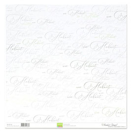 """Designpapier """"Hochzeit"""" - Mundart Stempel"""