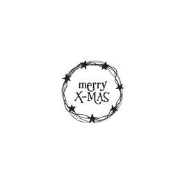 """Holzstempel """"Merry X-MAS"""""""
