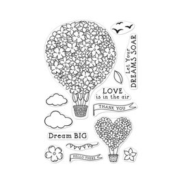"Clearstampset ""Hot Air Balloon"" - Hero Arts"
