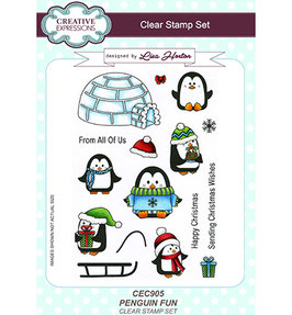 """Clearstamp """"Penguin Fun"""" - Creative Expressions"""