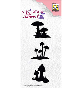 "Silhouette Clearstamp ""Mushrooms"" - Nellie´s Choice"