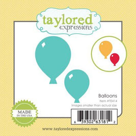 "Stanzschablone ""Little Bits Balloons"" - Taylored Expressions"