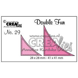 "Double Fun Cutting Die #29 ""Corners With Dots"" - Crealies"