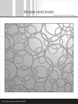 """3D Prägeschablone """"Circles"""" - Simple & Basic"""