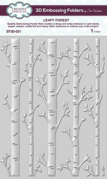 """3D Prägeschablone """"Leafy Forest"""" - Creative Expressions"""