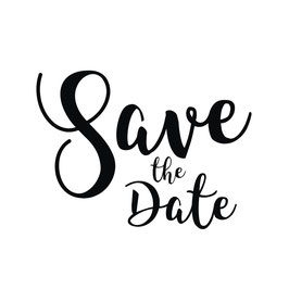 """Holzstempel """"Save the Date"""" - Butterer"""