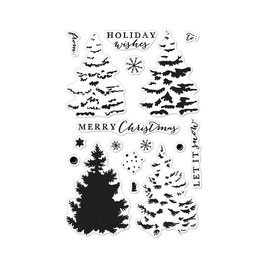 """Clearstampset """"Color Layering Christmas Tree"""" - Hero Arts"""