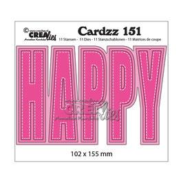 "Stanzschablone ""Cardzz #151 Happy"" - Crealies"