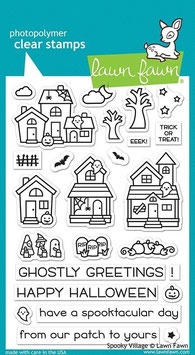"""Clearstampset """"Spooky Village"""" - Lawn Fawn"""