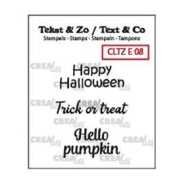 "Clearstampset ""Text #8 Halloween"" - Crealies"