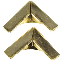Metallecken für Bucheinbände, Gold