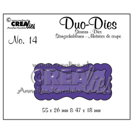 "Stanzschablone ""Duo Labels #14"" - Crealies"