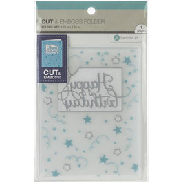 "Cut & Emboss Folder ""Happy Birthday"" - Hampton Art"