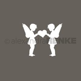 """Stempel """"2 Engel mit Herz"""" - Alexandra Renke"""