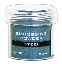 """Embossingpulver """"Metallic Steel"""" - Ranger"""