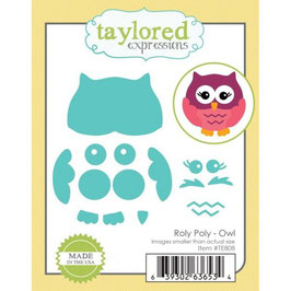 "Stanzschablone ""Roly Poly Owl"" - Taylored Expressions"