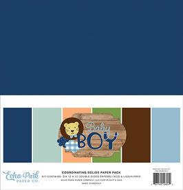 Baby Boy 12x12 Coordinating Solids  - Echo Park