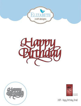 "Stanzschablone ""A Way With Words, Happy Birthday small"" - Elizabeth Craft Designs"