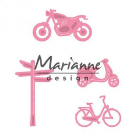 "Collectables ""Village Decoration Set Bycicle"" - Marianne Design"
