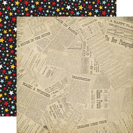 Wish Upon A Star, Newsprint - Echo Park Paper