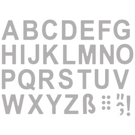"Stanzschablonen-Set ""Classic Alphabet Upper"" - Rayher"