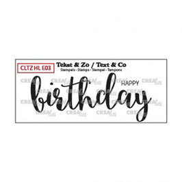 "Clearstampset ""Handlettering Happy Birthday"" - Crealies"