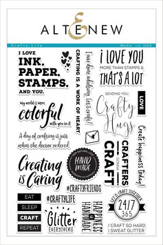 "Clearstamp-Set ""Crafty Life"" - Altenew"