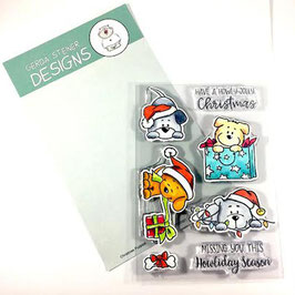 "Clearstampset ""Christmas Puppies"" - Gerda Steiner Designs"