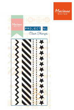 Clear Border Stamp, Stars - Marianne Design