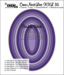 """Crea-Nest-Lies XXL """"Double Stitch Oval"""" - Crealies"""