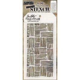 """Layered Stencil """"Thatched"""" - Tim Holtz"""